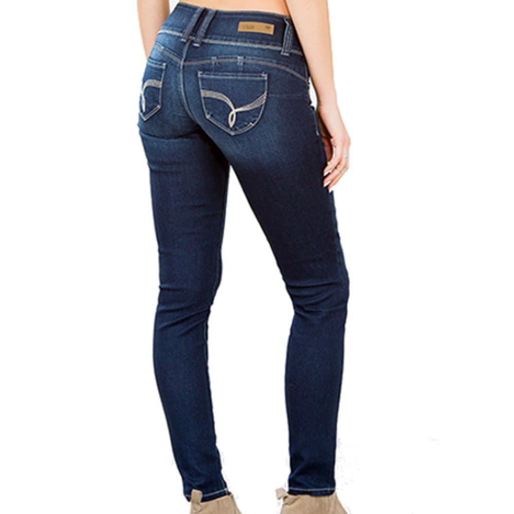 Y.M.I. JEANS Girls' Basic Skinny Jeans - MED WASH