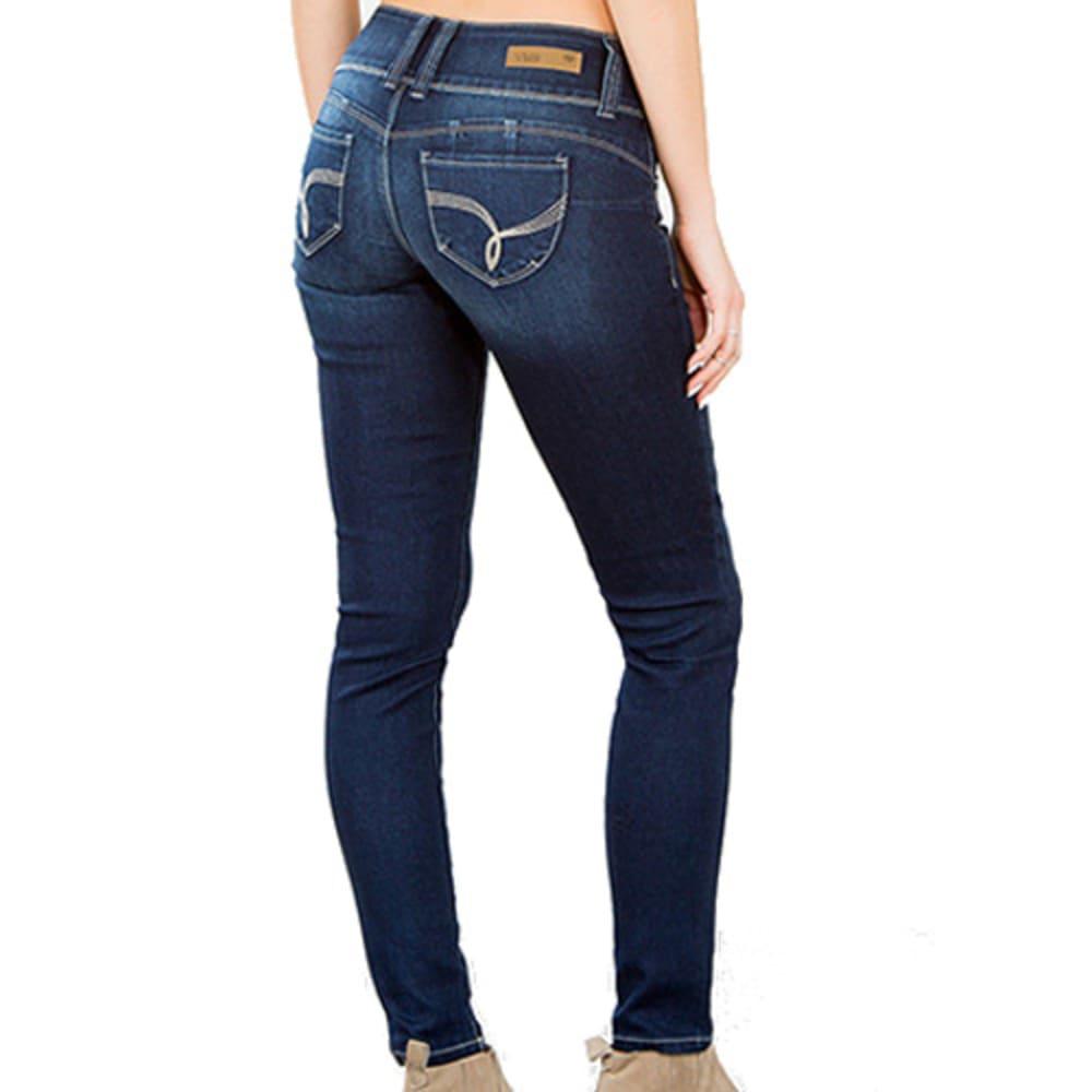 Y.M.I. JEANS Girls' Basic Skinny Jeans - MED WASH
