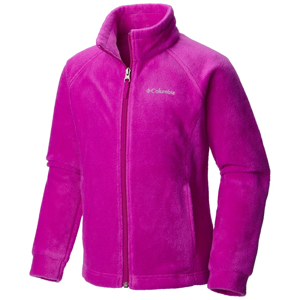COLUMBIA Girls' Benton Springs Fleece - 531-BRIGHT PLUM