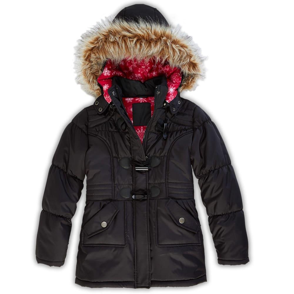 DOLLHOUSE Girls' Toggle Front Puffer Jacket - BLACK