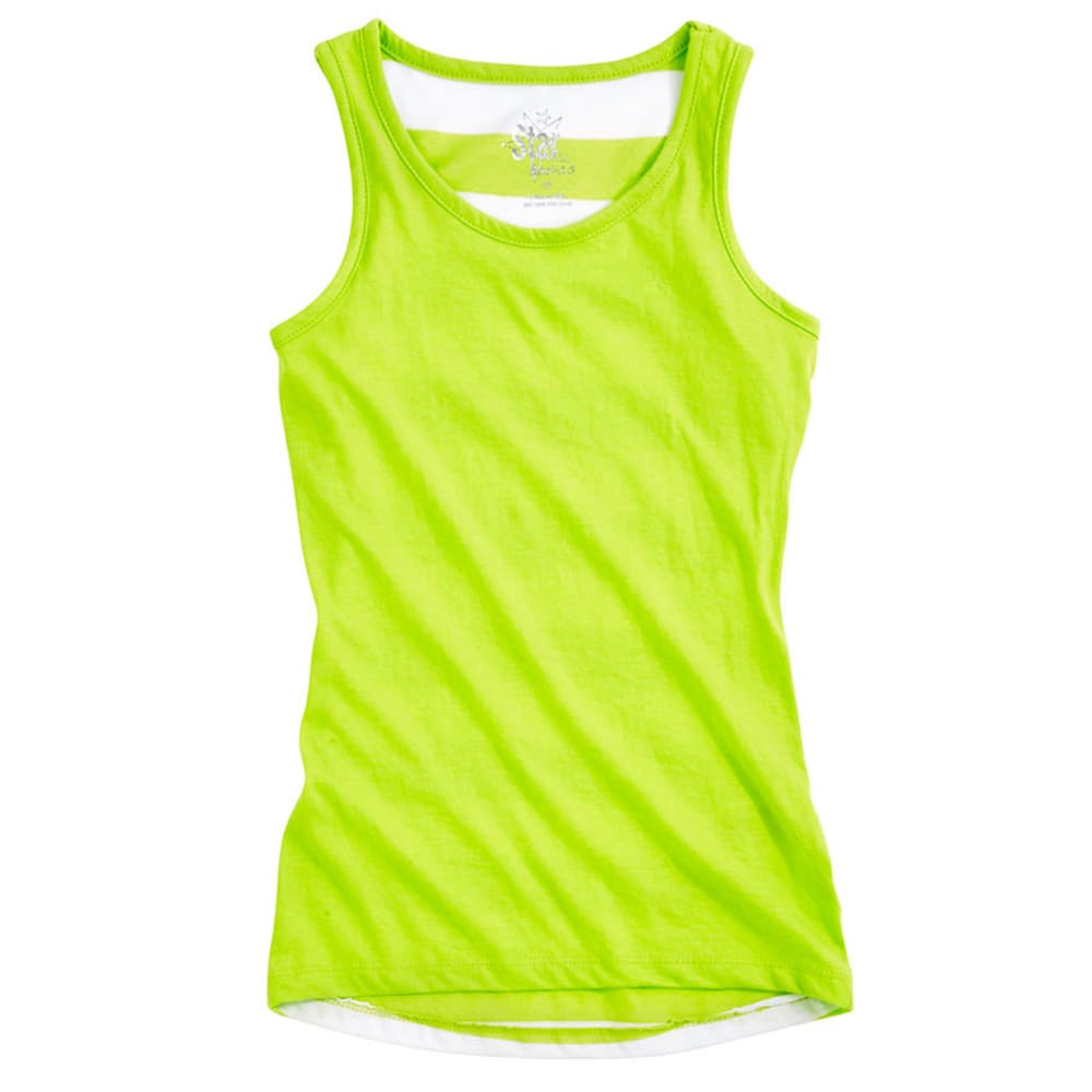 STAR RIDE Girls' Hi-Lo Tank - ALGAE