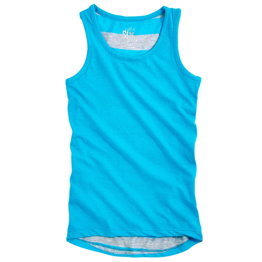STAR RIDE Girls' Hi-Lo Tank - BLUE ATOLL