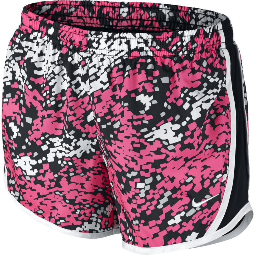 NIKE Girls' Tempo Printed Running Shorts XS