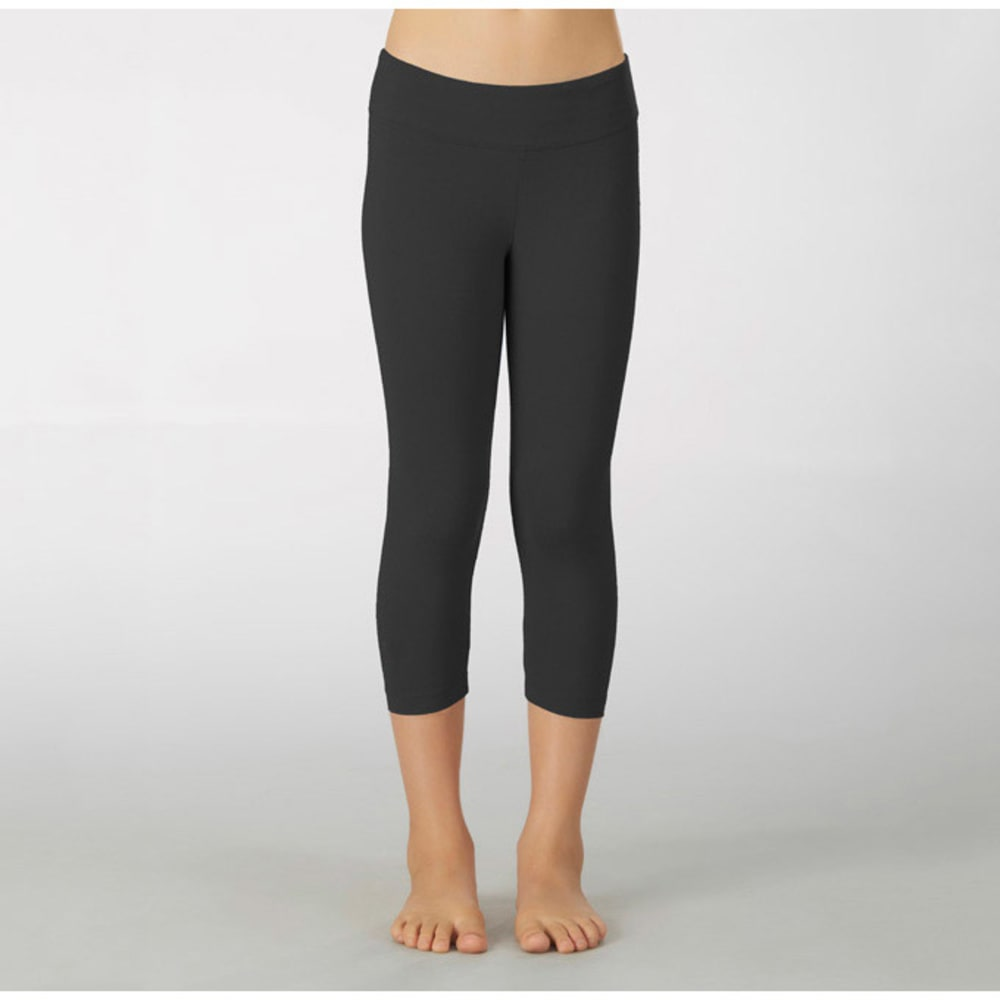 MARIKA Girls' Capri Leggings - BLACK