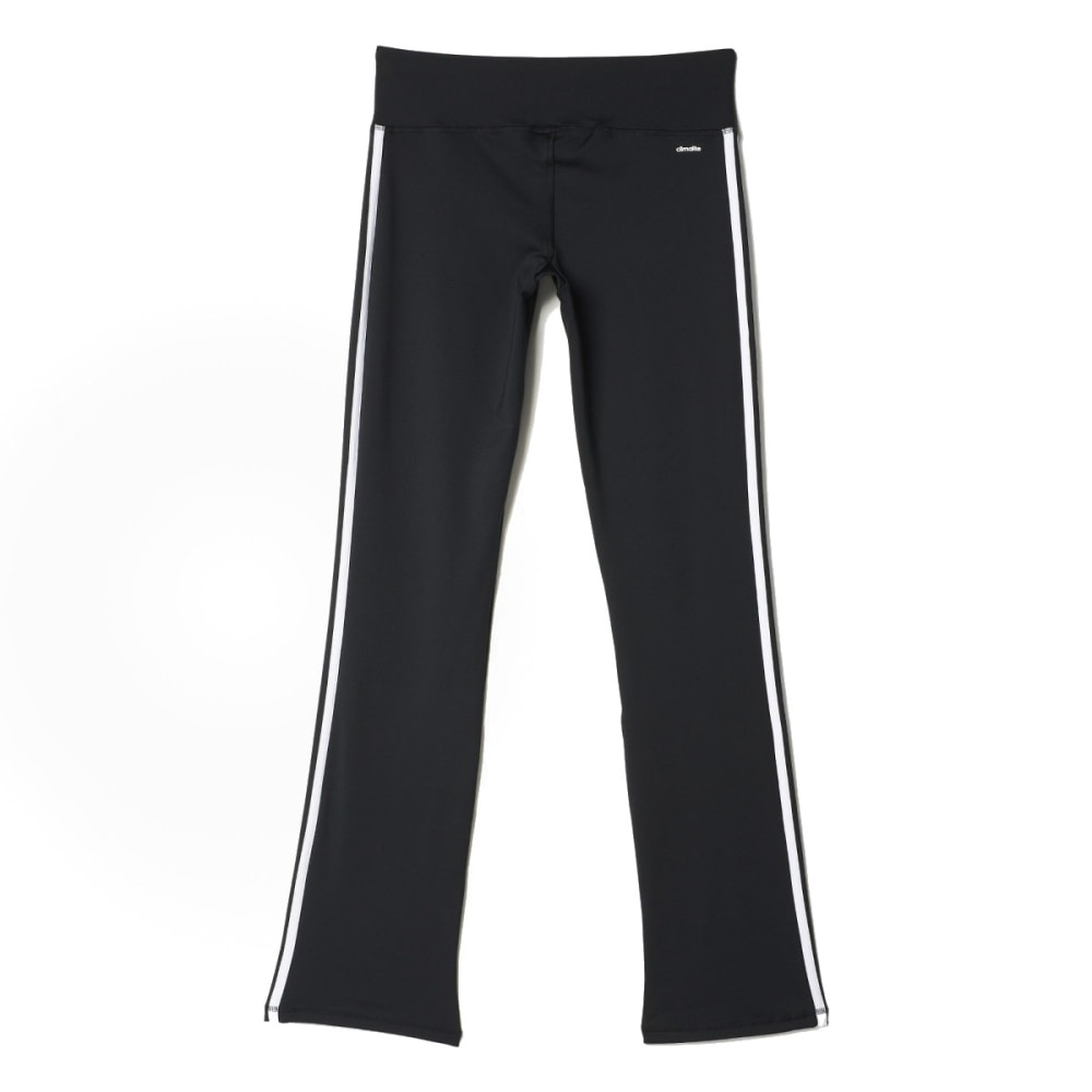 ADIDAS Girls' Yoga Pants - BLACK/WHITE