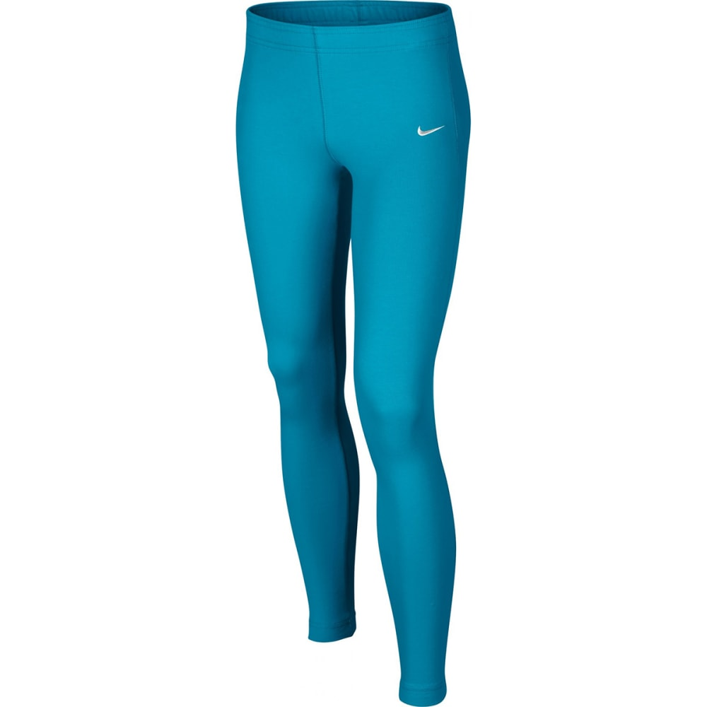 NIKE Girls' Leg-A-See Just Do It Tights - TIDE BLUE
