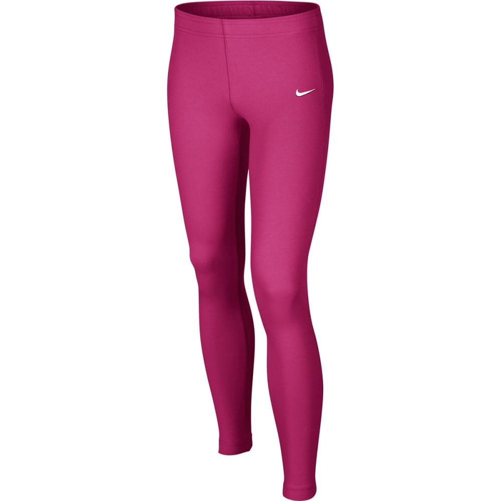NIKE Girls' Leg-A-See Just Do It Tights - KNOCKOUT PINK