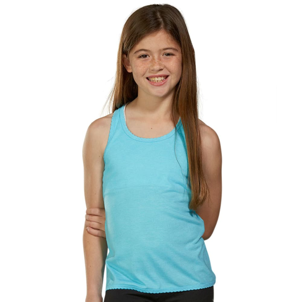 MARIKA Girls' Scallop Racerback Tank - BLUE FISH