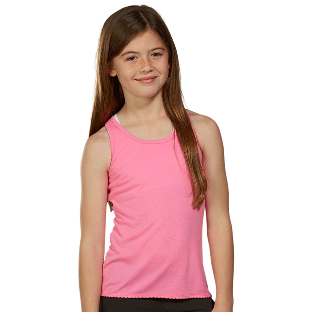 MARIKA Girls' Solid Racerback Tank - SUGAR PLUM