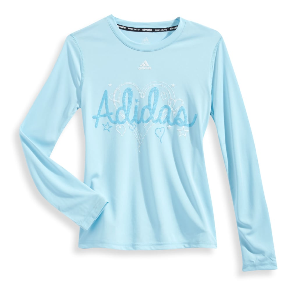 ADIDAS Girls' Heart Strings Long-Sleeve Tee - BLUE