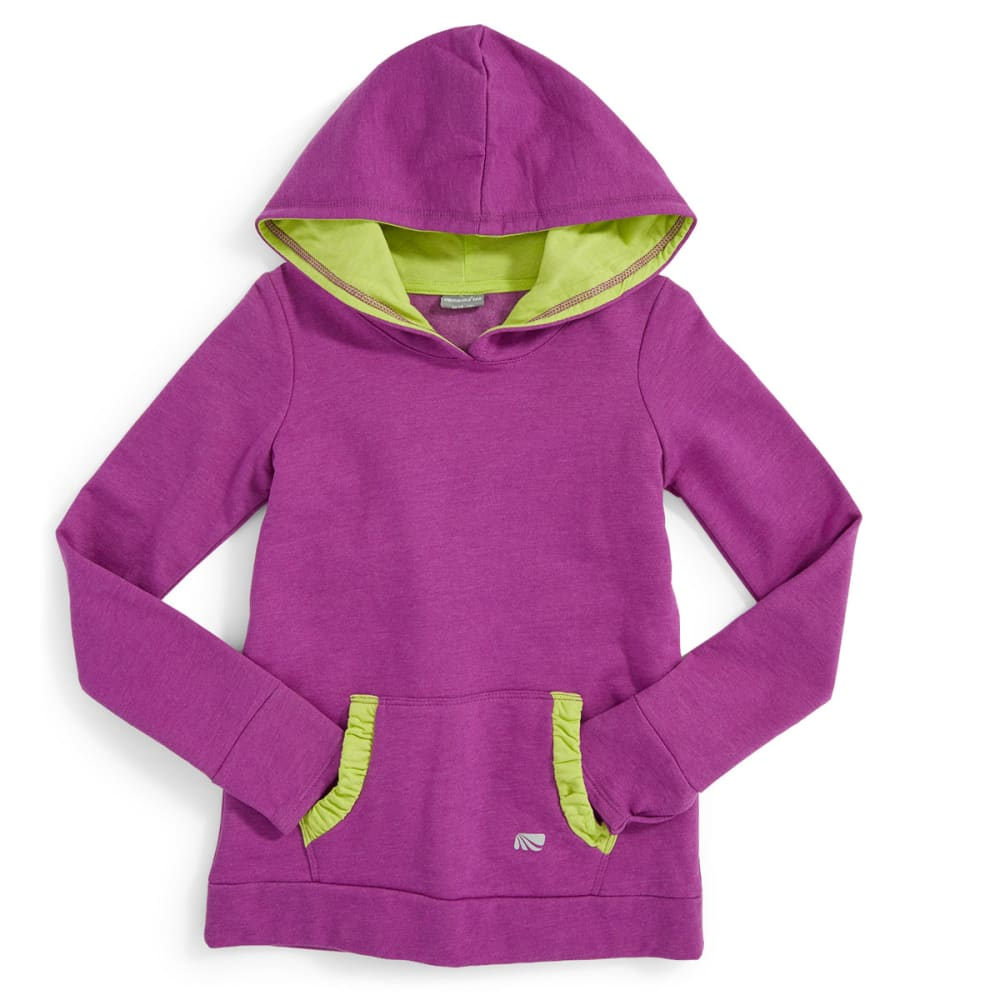 MARIKA Girls' Cute Ruched Fleece Hoodie - ORCHID