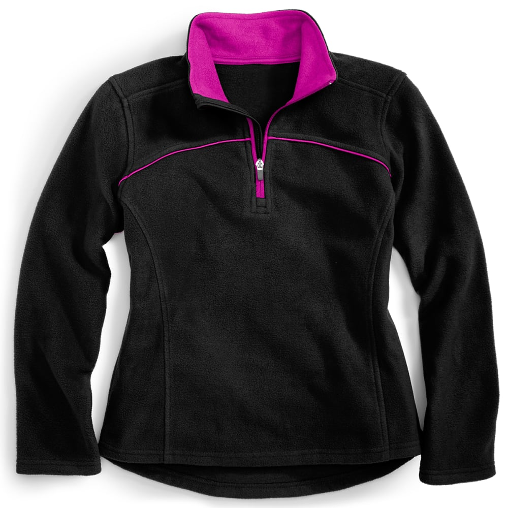 CHEETAH Girls' Active Fleece - BLACK/POISON BERRY