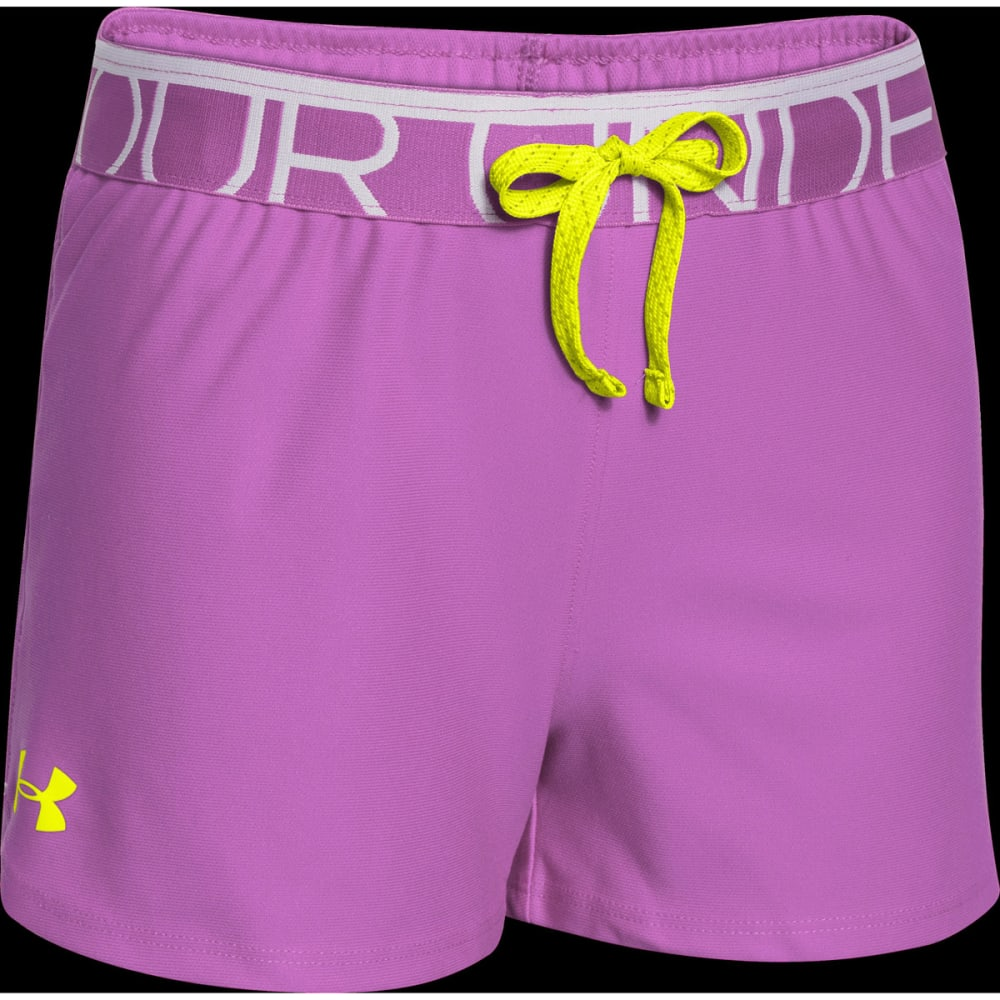 UNDER ARMOUR Girls™ Play Up Shorts - VENTURE PINK