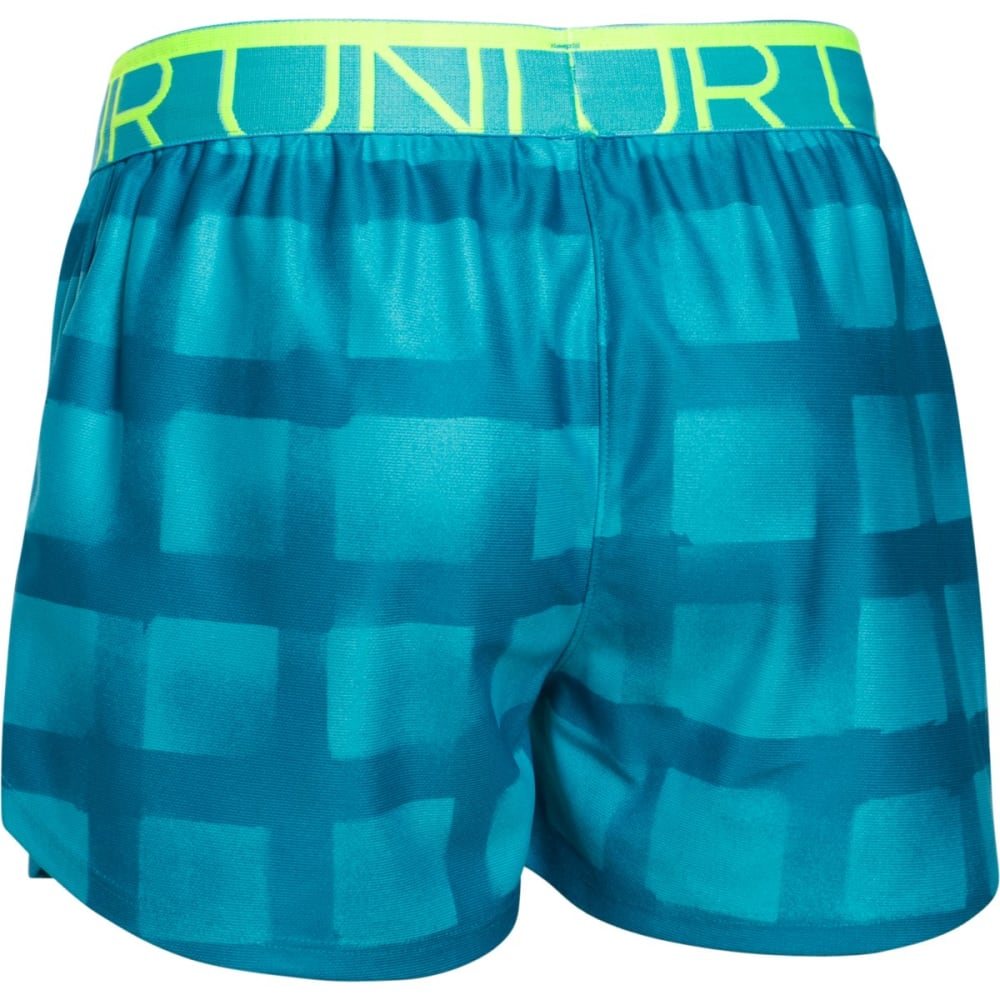 UNDER ARMOUR Girls' Printed Play Up Shorts - AQUA-974