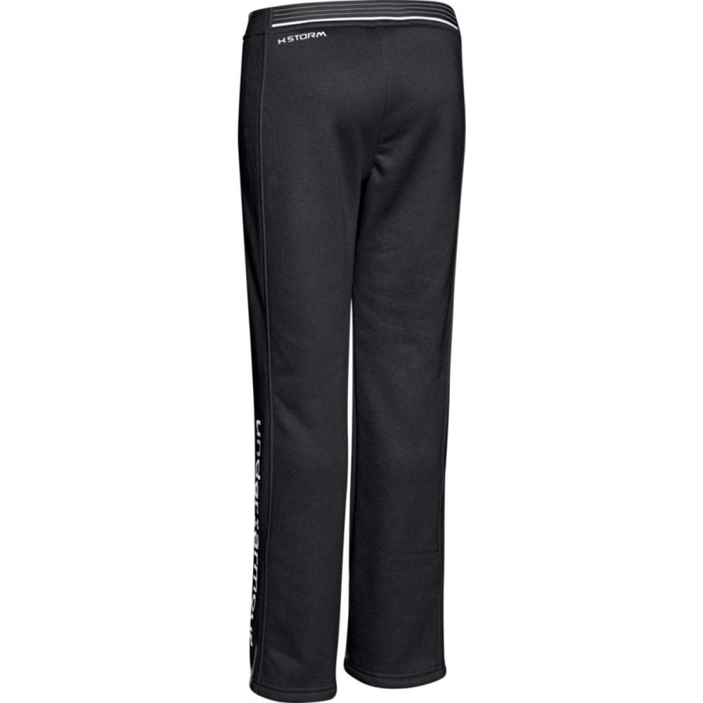UNDER ARMOUR Girl's Storm Armour® Fleece Pants - BLACK/WHITE