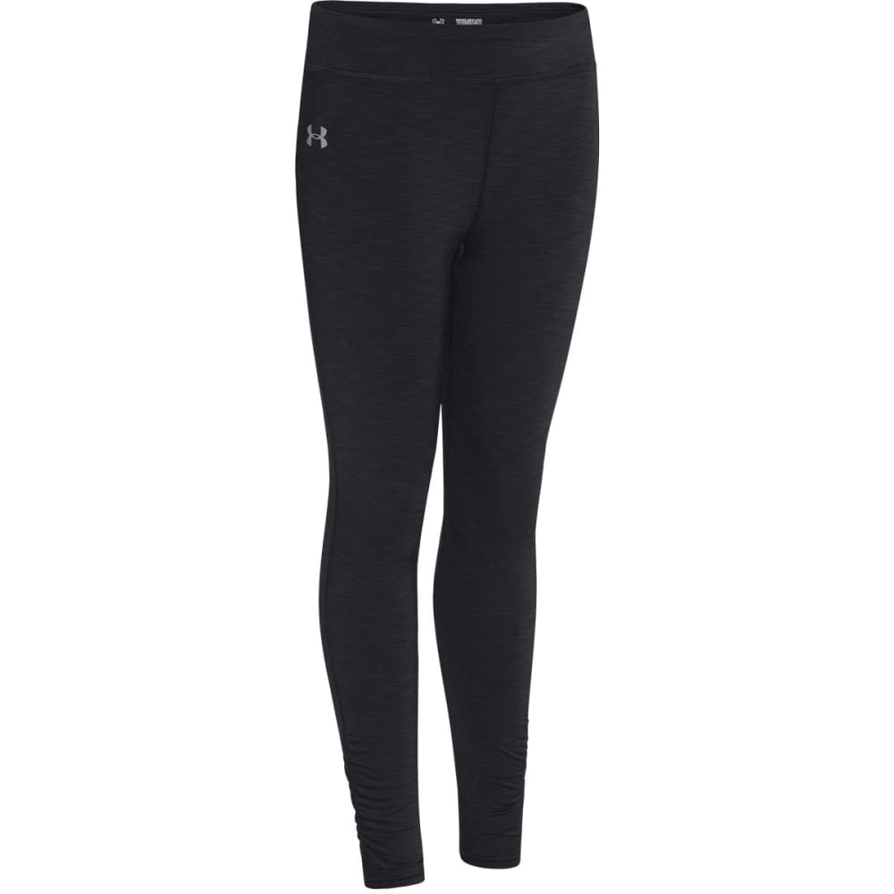 UNDER ARMOUR Girls' Coldgear® Evo Mélange Tights - BLACK