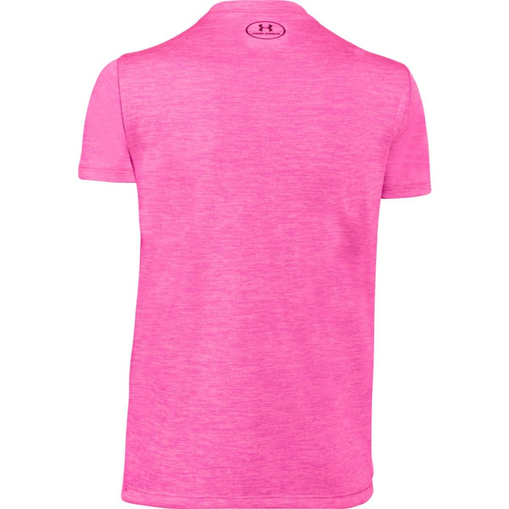 UNDER ARMOUR Girls   Tech Big Logo V-Neck Tee - PINK