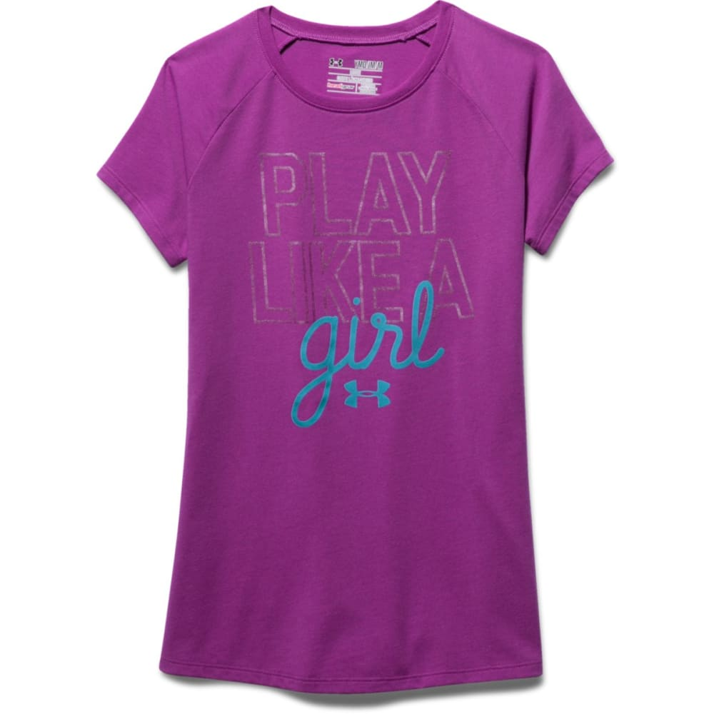 UNDER ARMOUR Girls' Play Like A Girl Short-Sleeve Tee - STROBE-577