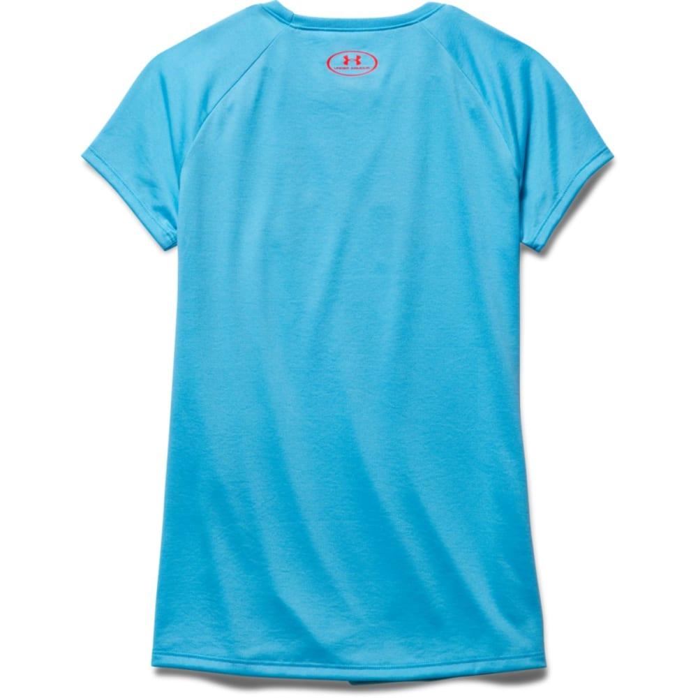 UNDER ARMOR Girls' Tech™ Big Logo Crewneck Tee - MERIDIAN BLUE-987