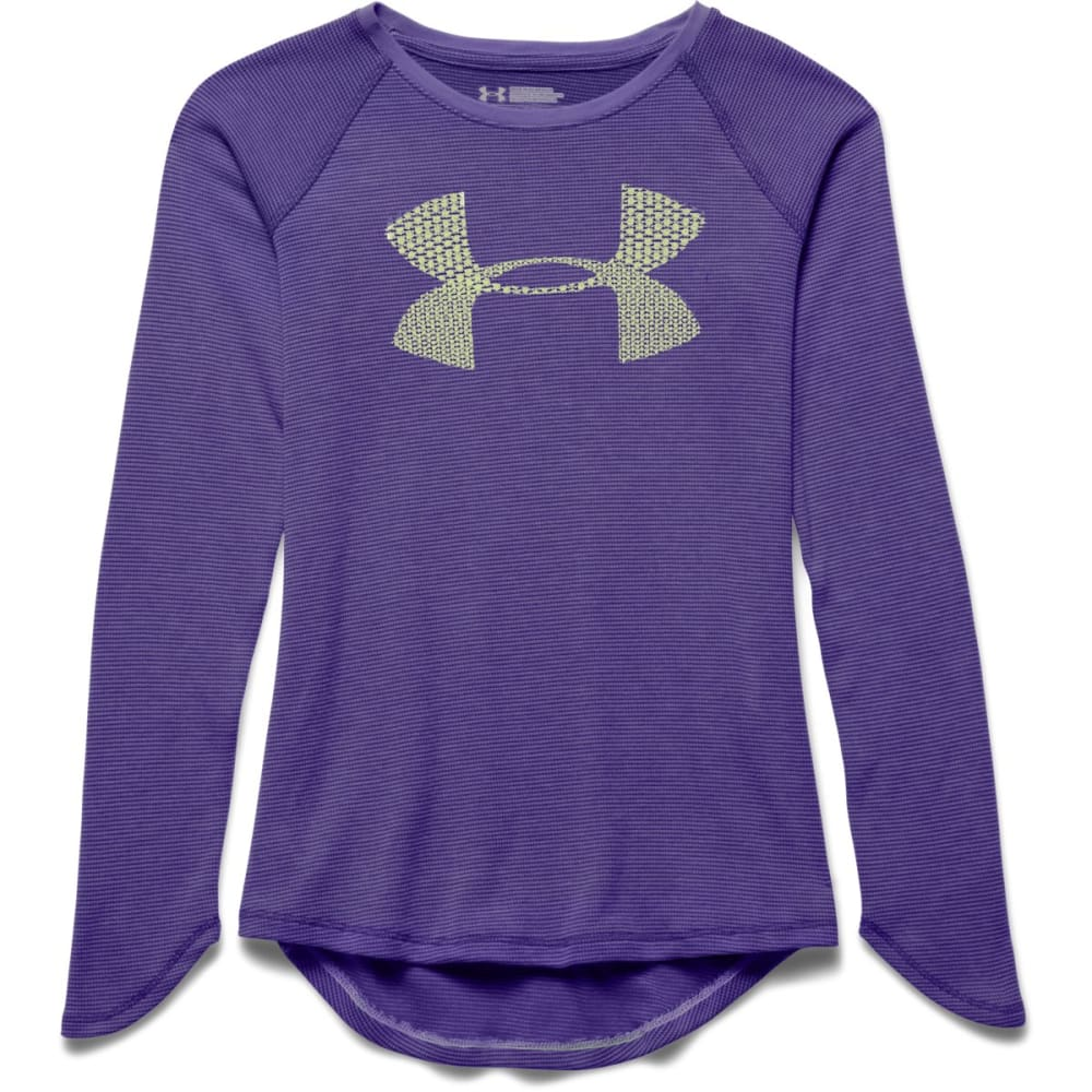 Under Armour Girl's  UA Waffle LS Top - PURPLE