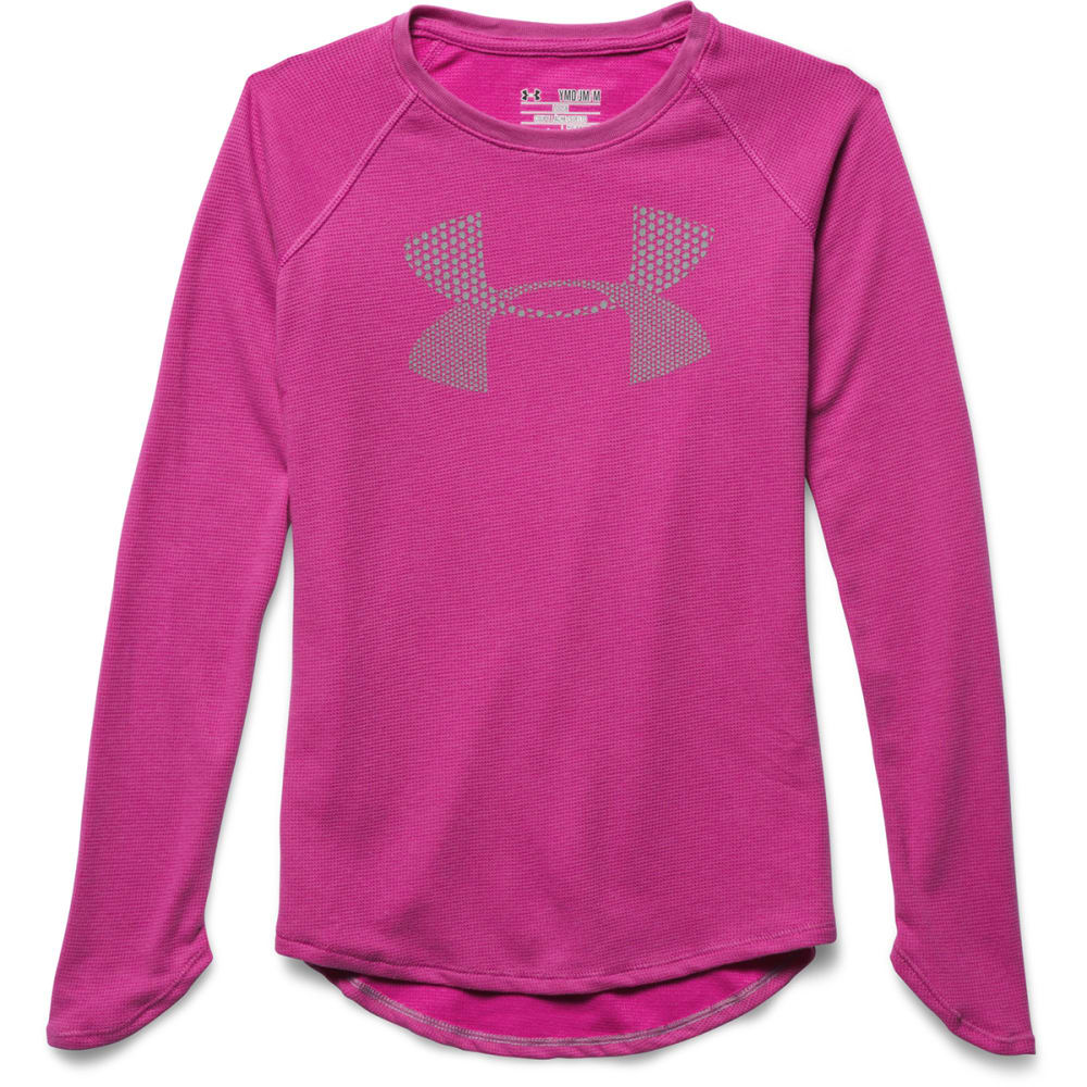 Under Armour Girl's  UA Waffle LS Top - PINK