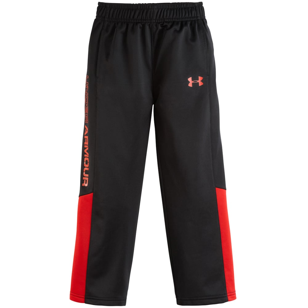 UNDER ARMOUR Boy's Brawler Tricot Pants - BLACK/RED