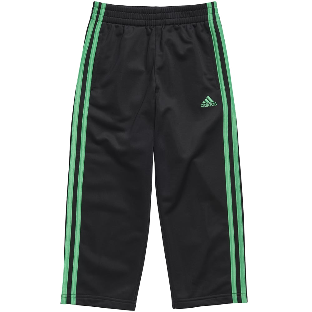 ADIDAS Boys' Impact Tricot Pants - BLACK/FLASH LIME