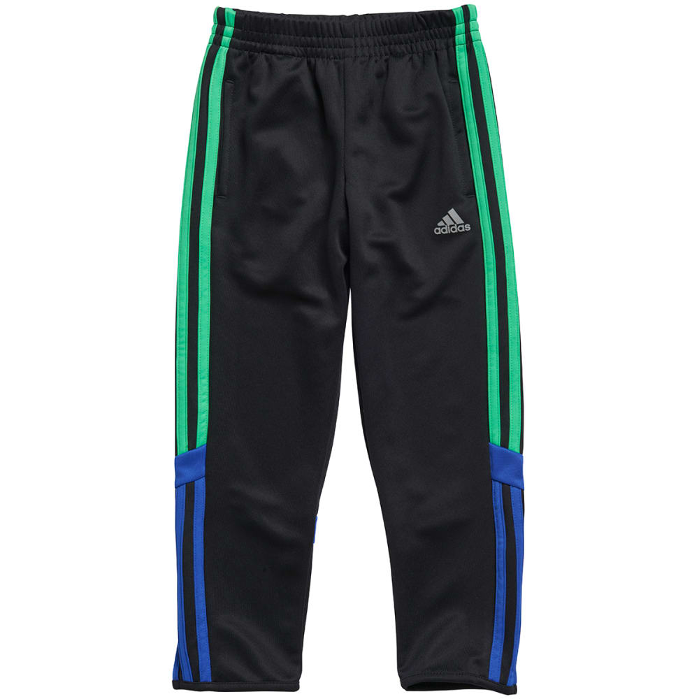 ADIDAS Boys' Striker Soccer Pants - BLACK/GREEN/BLUE