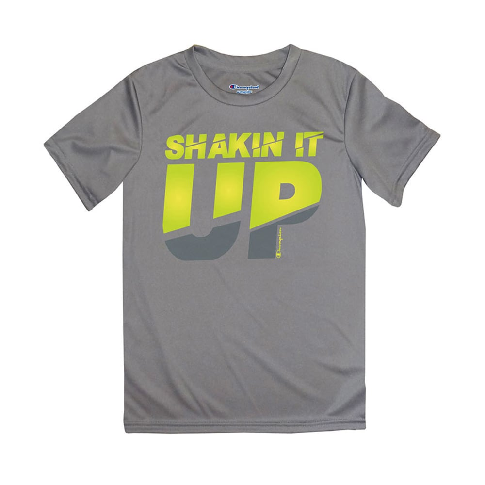CHAMPION Boys' Shakin' It Up Tee - CARBON