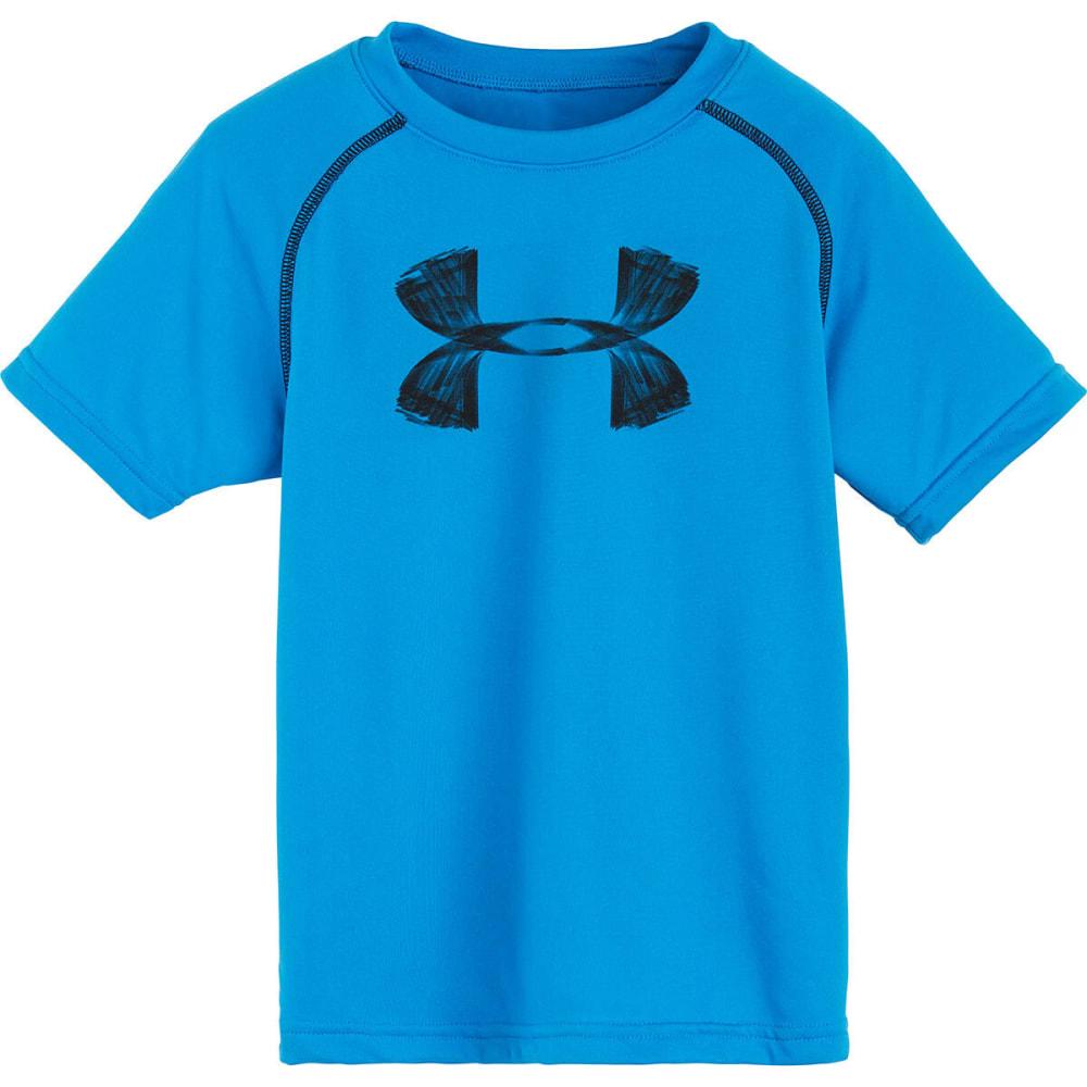 UNDER ARMOUR Boys' Big Logo Tee - POOL/BLACK
