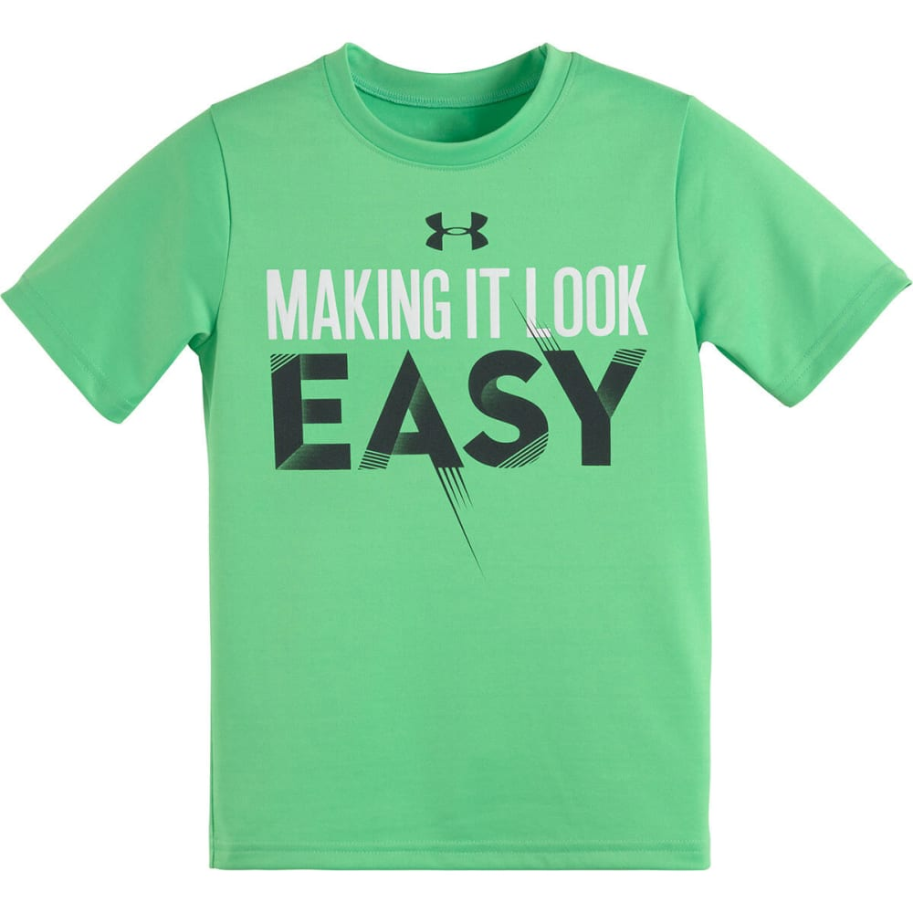UNDER ARMOUR Boys' Making It Look Easy Tee - GREEN ENERGY/WHITE/A