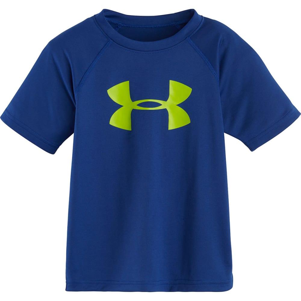 UNDER ARMOUR Boys' Big Logo Tee - AMERICAN BLUE