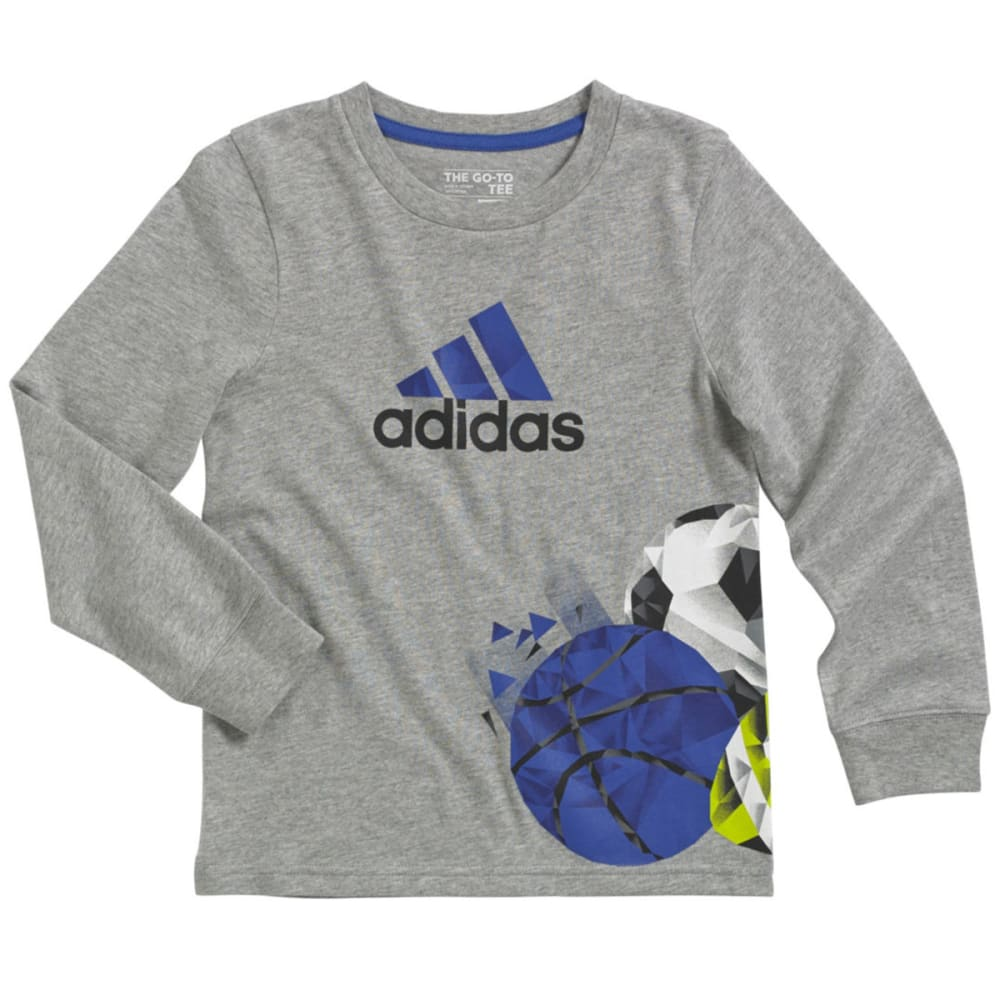 ADIDAS Boys' Multisport Shirt - GREY HEATHER