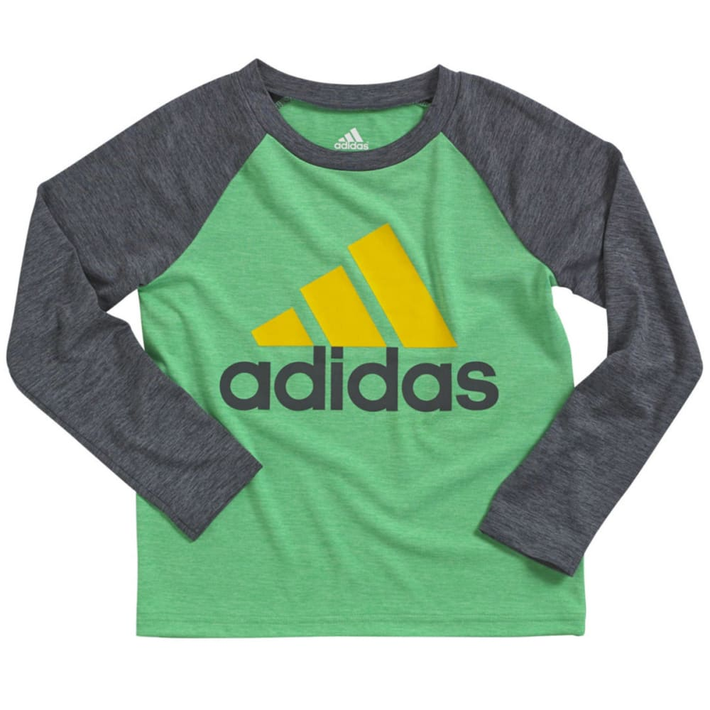 ADIDAS Boys' Performance Raglan Shirt - GREEN HEATHER
