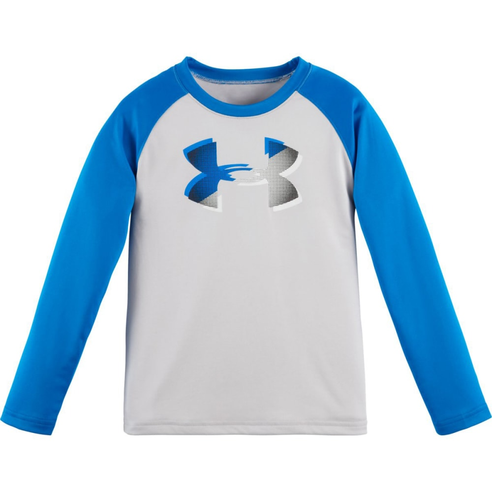UNDER ARMOUR Boys' Raglan Drop Shadow Logo Tee - GLACIER GREY/BLUE-05