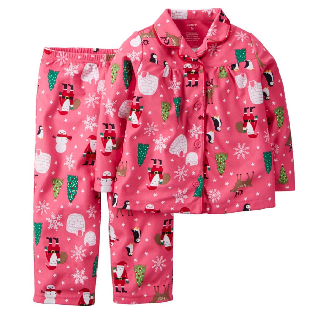 CARTERS Girls' 2-piece Santa Print Set - KNOCKOUT PINK