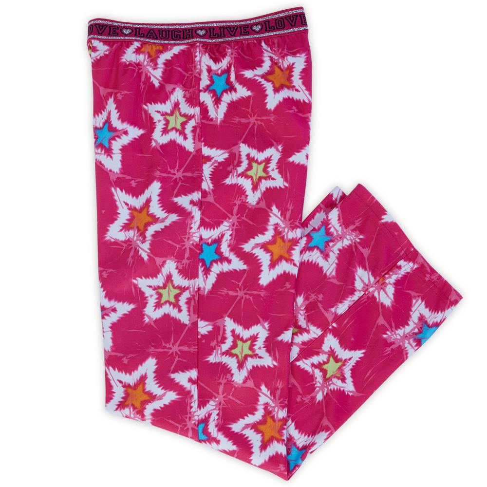 JELLIFISH Girls' Star Print Fleece Bottoms - FUSHIA