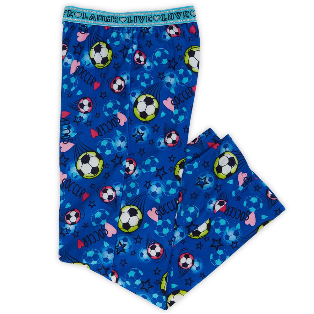 JELLIFISH Girls' Soccer Print Fleece Bottoms - ROYAL BLUE