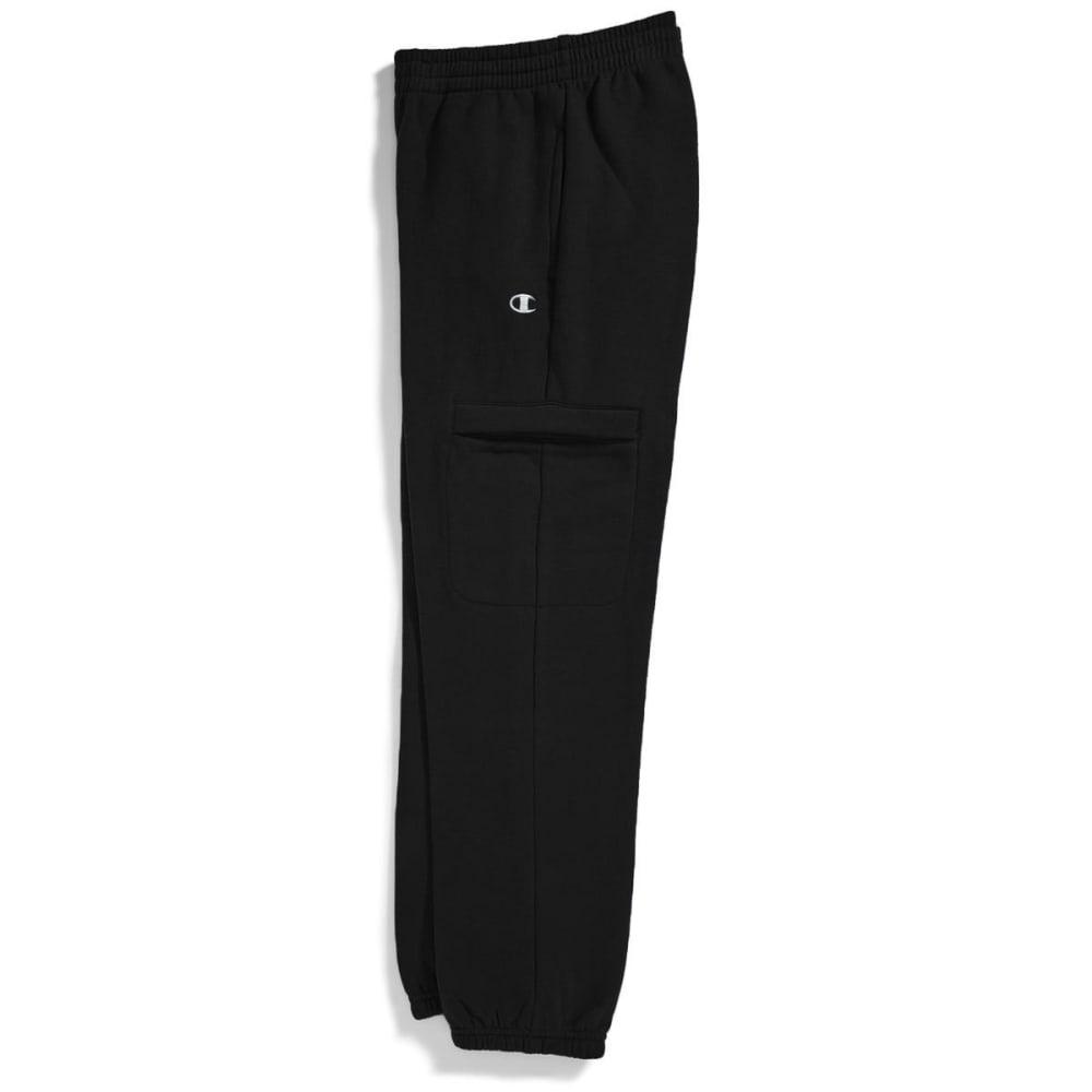 CHAMPION Boys' Basic Fleece Cargo Pants - BLACK