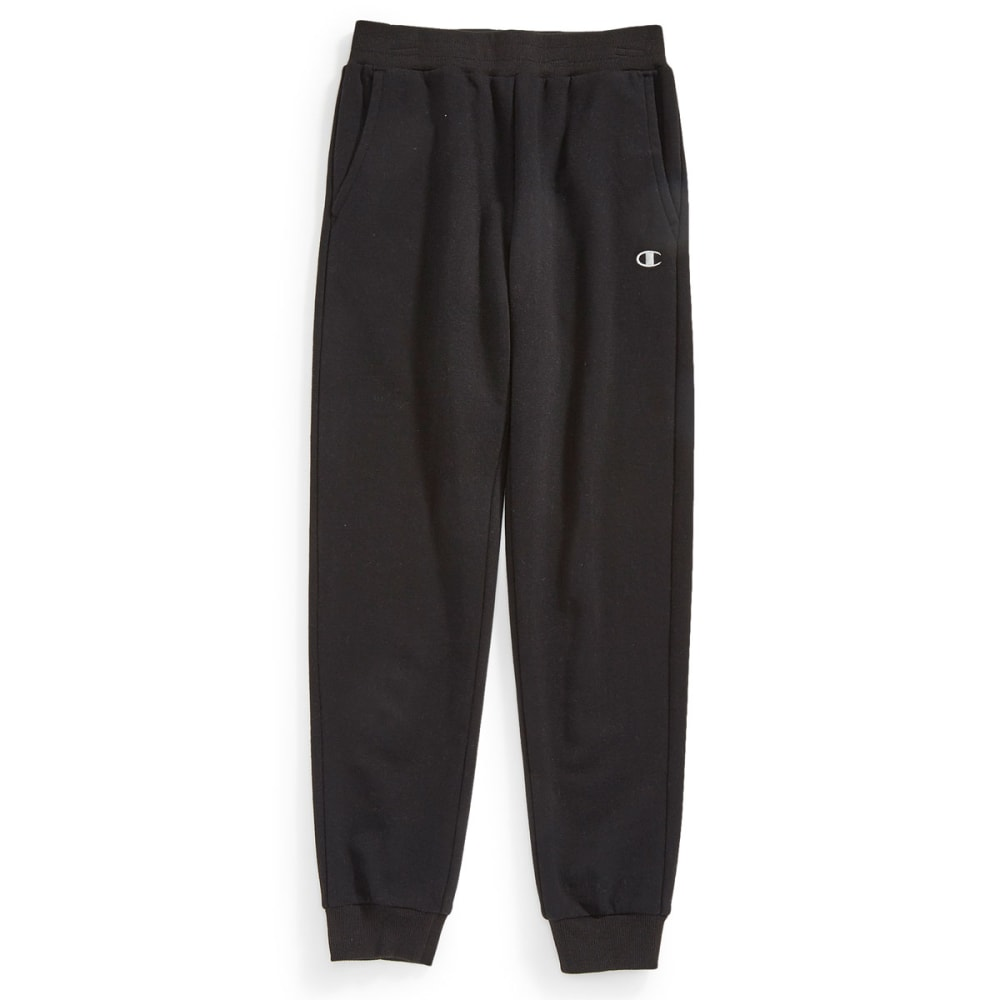 CHAMPION Boys' Basic Fleece Cargo Pants - BLACK