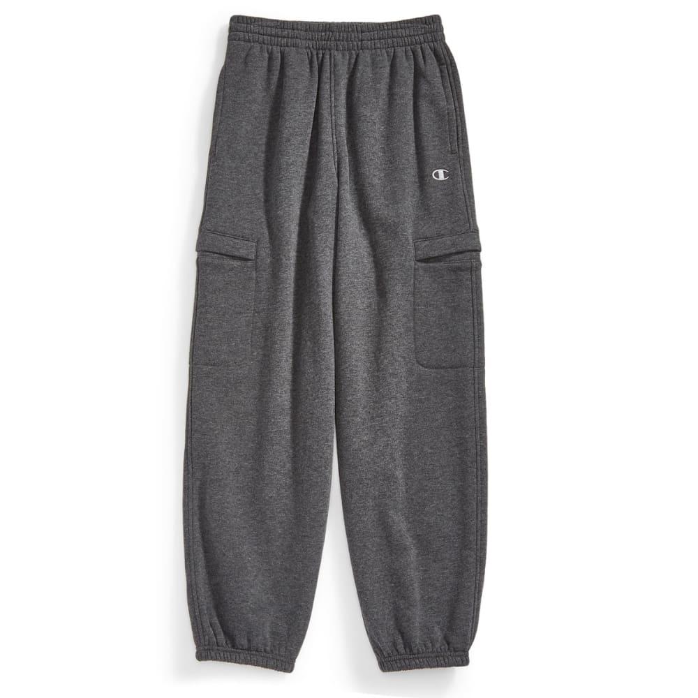 CHAMPION Boys' Basic Fleece Cargo Pants - GRANITE