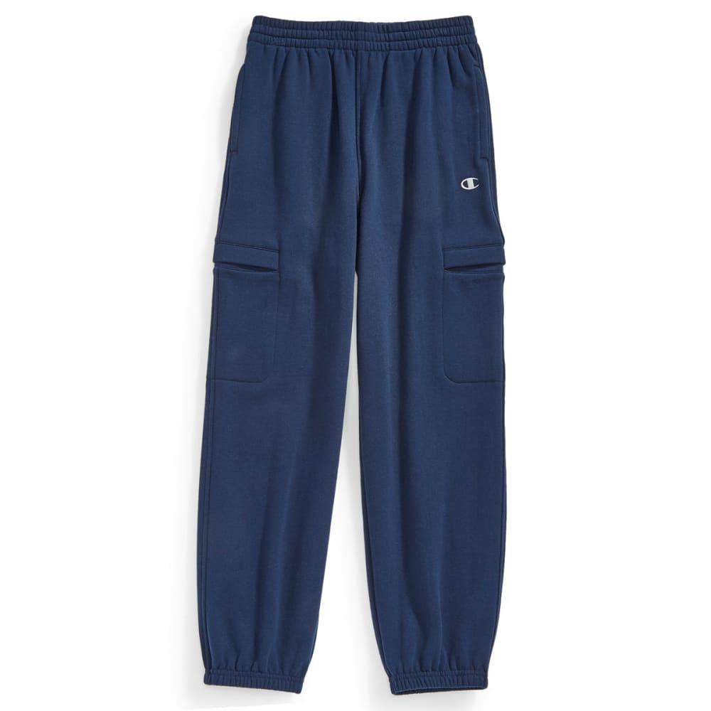 CHAMPION Boys' Basic Fleece Cargo Pants - NAVY