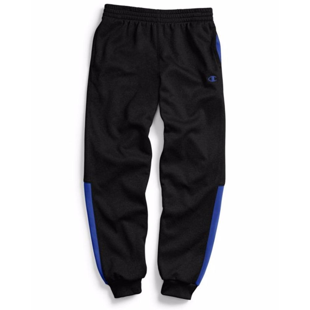 CHAMPION Boys' Tech Fleece Jogger Pants - BLACK/BLUE