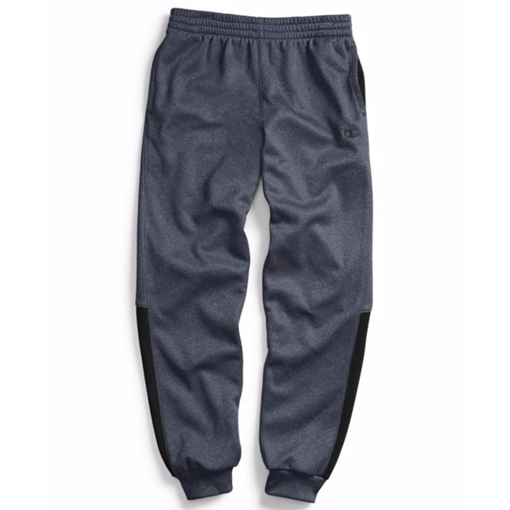 CHAMPION Boys' Tech Fleece Jogger Pants - GREY/BLACK