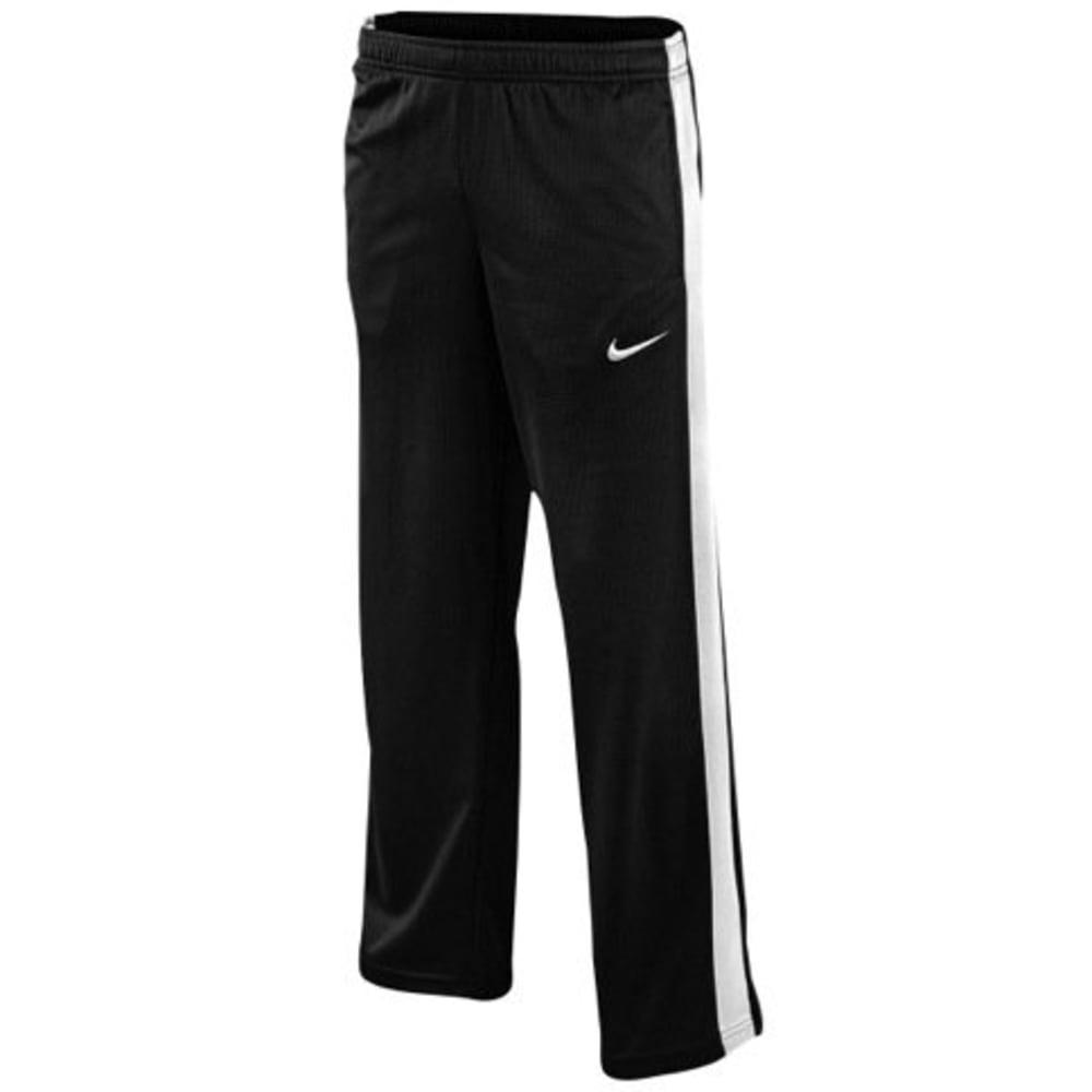 NIKE Boys' Performance Knit Pant - BLACK/WHITE