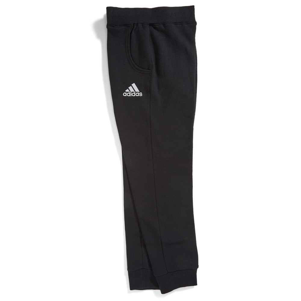 ADIDAS Boys' Tapered Fleece Pants - BLACK