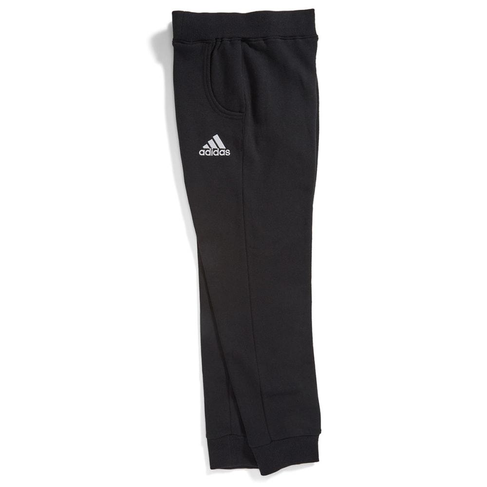 ADIDAS Boys' Tapered Fleece Pants - BLACK
