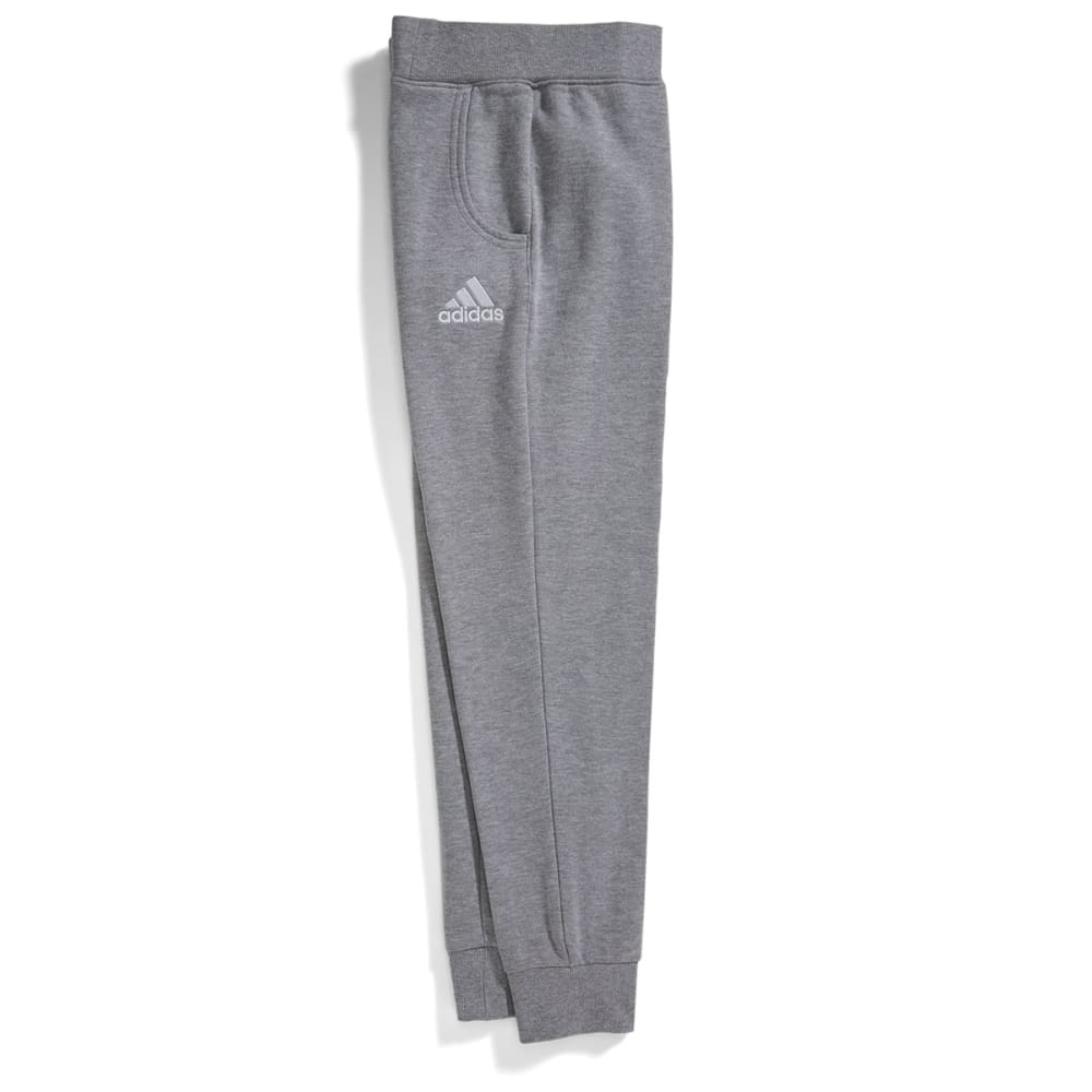 ADIDAS Boys' Tapered Fleece Pants - MEDIUM GREY HEATHER