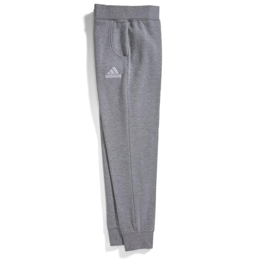 ADIDAS Boys' Tapered Fleece Pants - MEDIUM GREY HEATHER