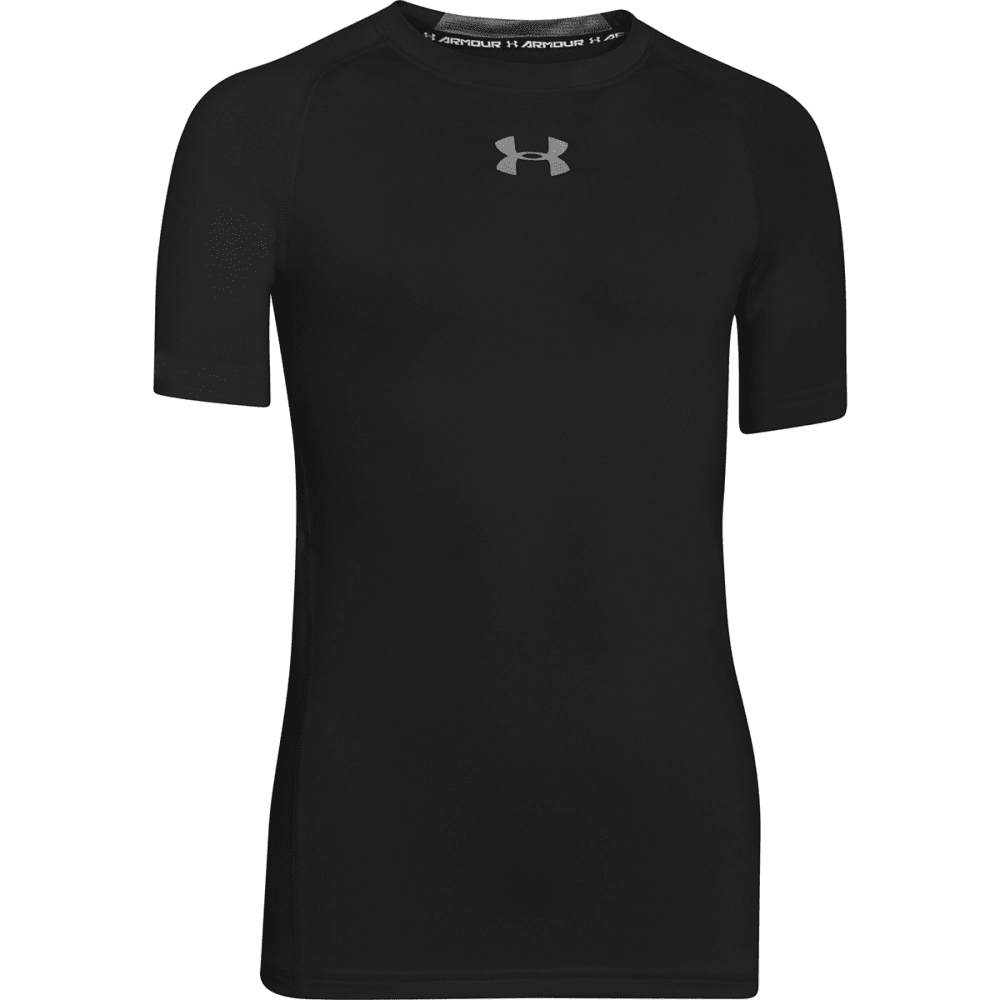 UNDER ARMOUR Boys' HeatGear® Armour Fitted Short - BLACK/BLUE